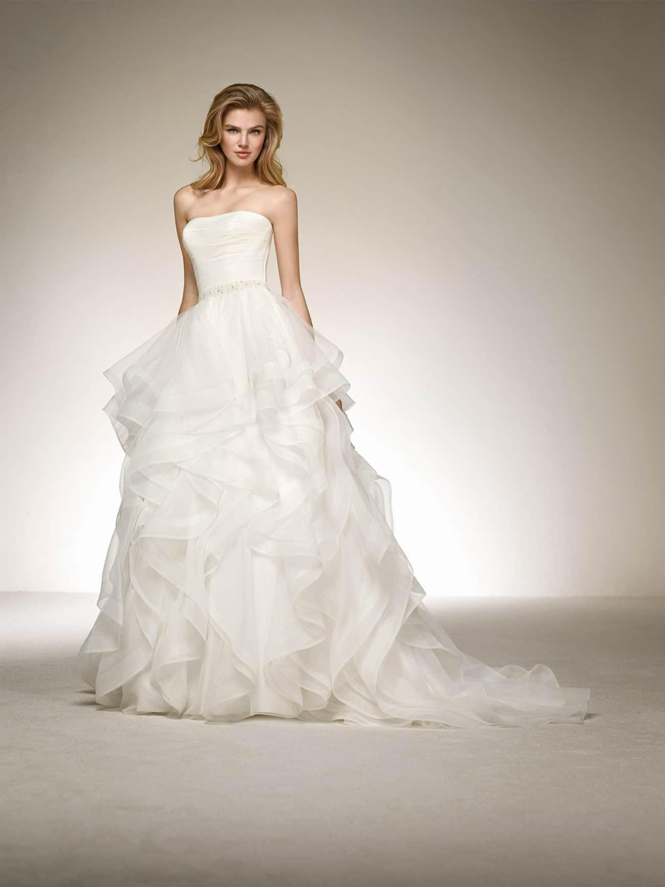 tendencias en vestidos de novia volantes