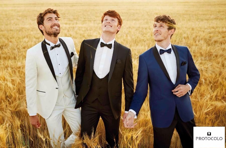 Las últimas tendencias en trajes de novio en 2019, ¡sí al blanco!